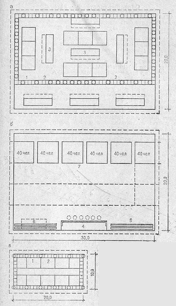 Схемы площадок для строевой